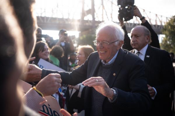 Bernie Sanders and Alexandria Ocasio-Cortez Endorsement Rally, Queens NY