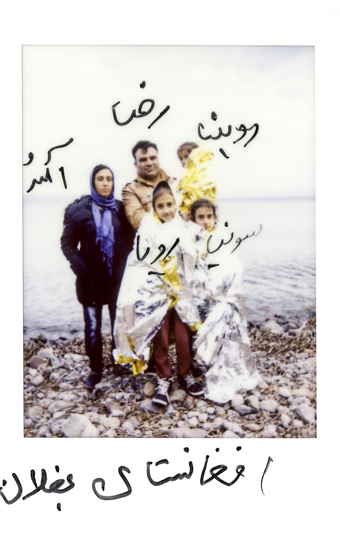 »Romina, Ameneh, Reza, Sonja, Roya. Afghanistan Baghlan« Lesvos, Greece, November 2015