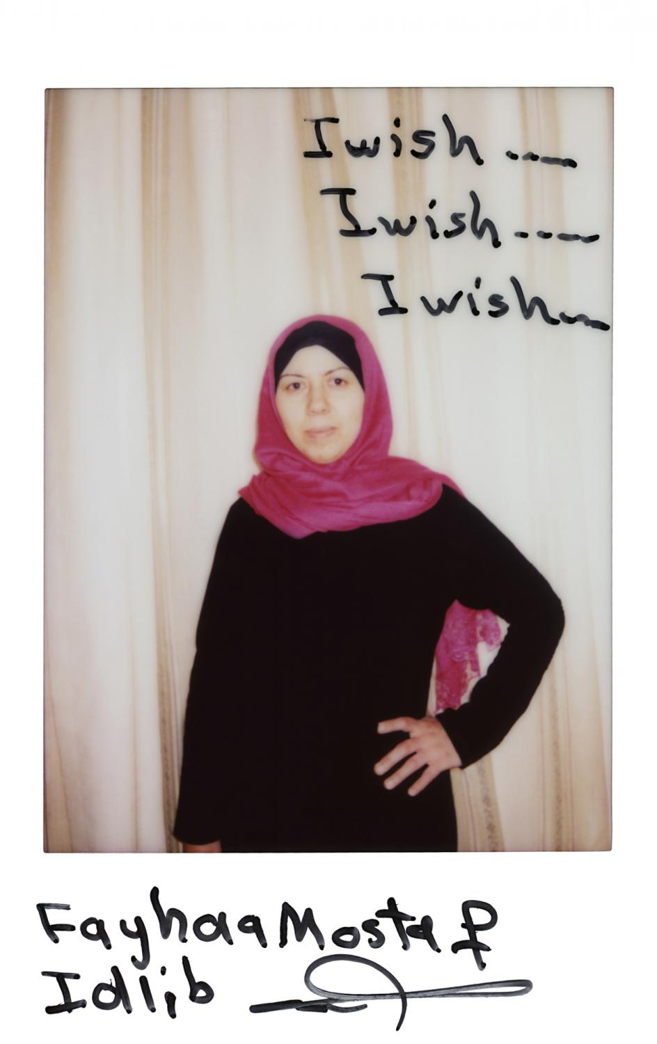 »I wish…I wish….I wish… Fayhanaa Mostaf, Idlib« Izmir, Turkey, April 2016