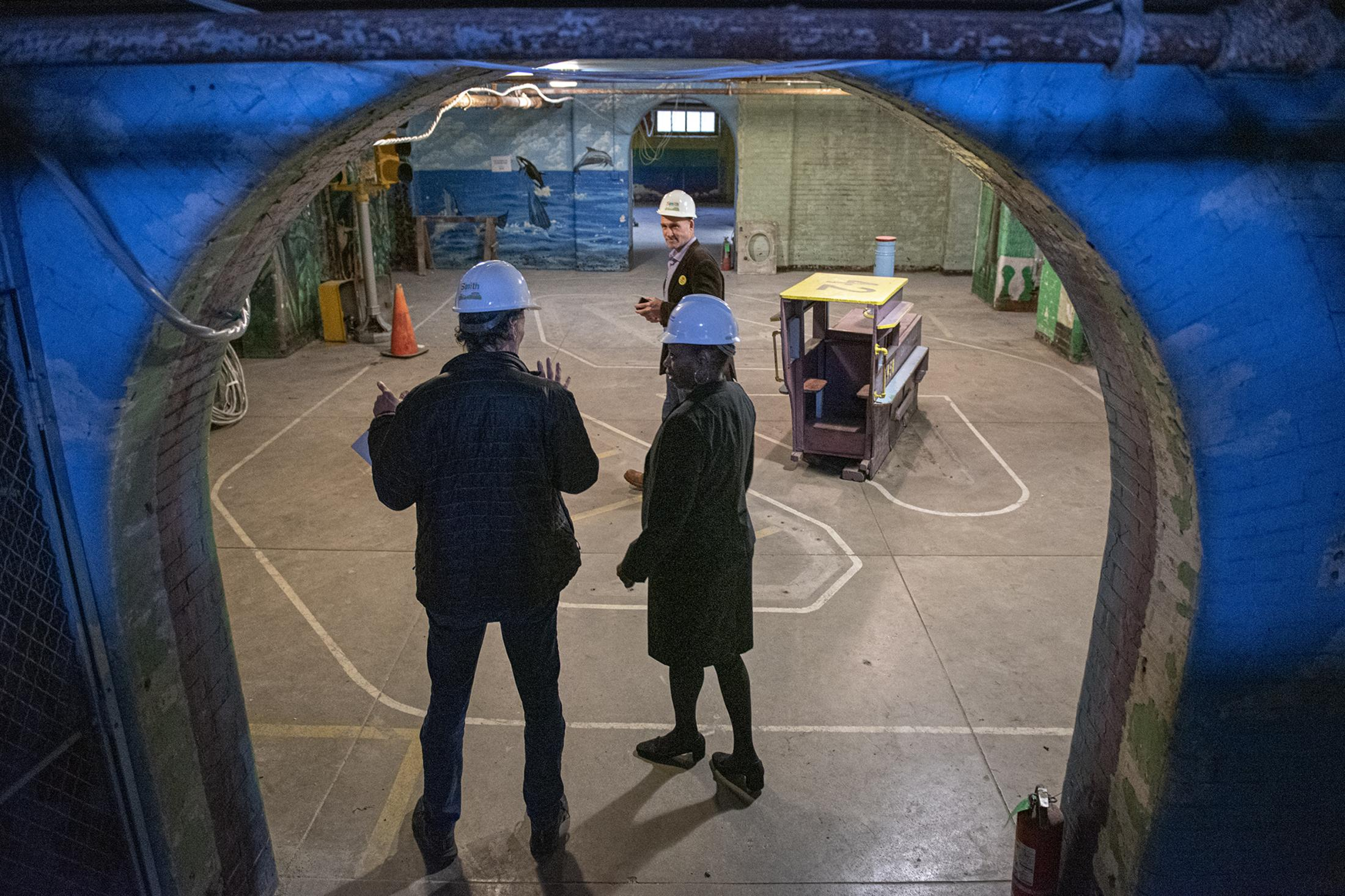 Frances Hovver, the executive director of Smith Memorial Playground & Playhouse, gives a tour inside the Playhouse on Sat, Oct. 26, 2019, in Philadelphia, Pa.
