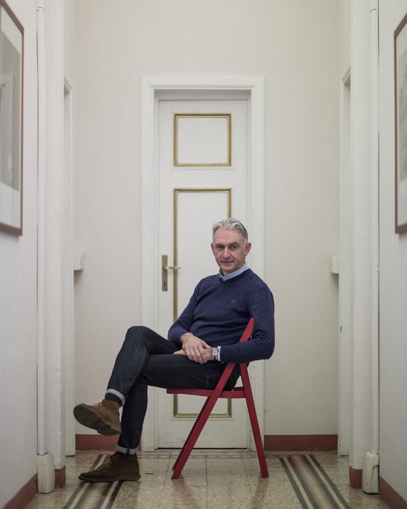 l'organizzatore di Fotolux, Enrico Stefanelli