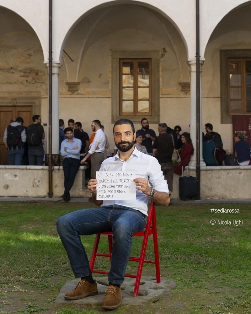 l'organizzatore di Libropolis Pietrasanta, Alessandro Mosti