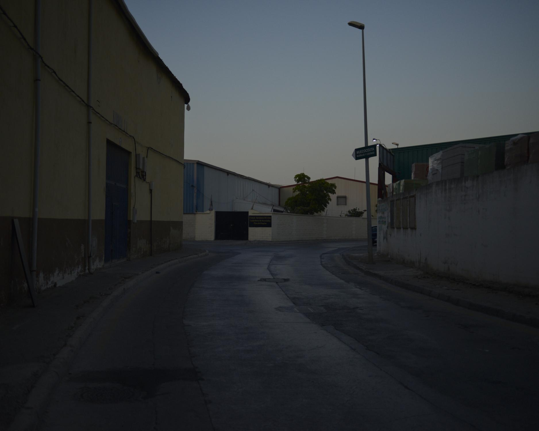 The streets of the industrial area, nearby the seawall. Ceuta, Spain, 2019.