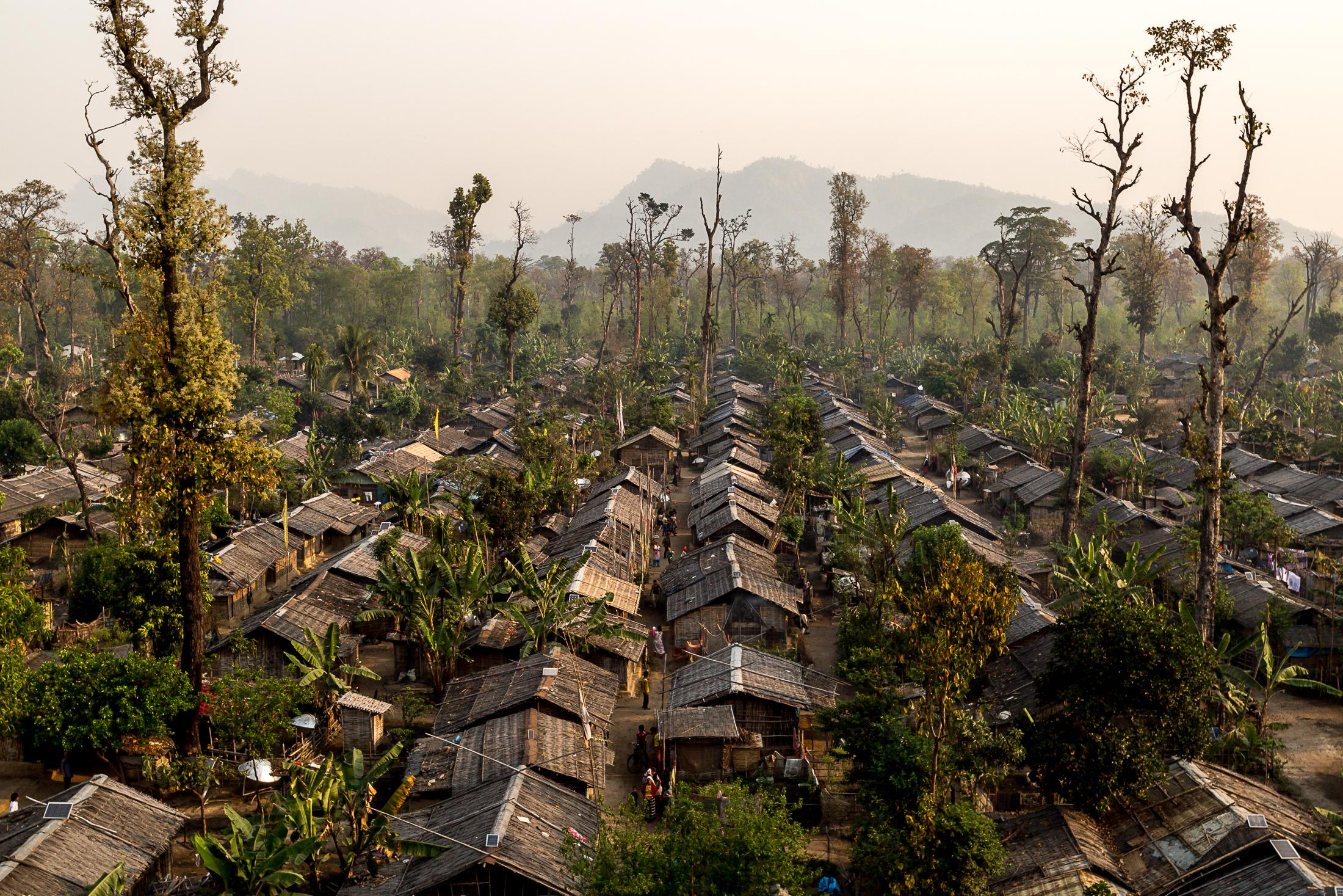 BELDANGI, NEPAL - MARCH 13: More than 4500 huts are built inside the Beldangi 2 refugee camp where more than 18,000 refugees live on March 13, 2015 in Beldangi, Nepal. Photo: © Omar Havana / Getty Images.