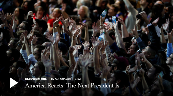 America Reacts: The Next President Is…