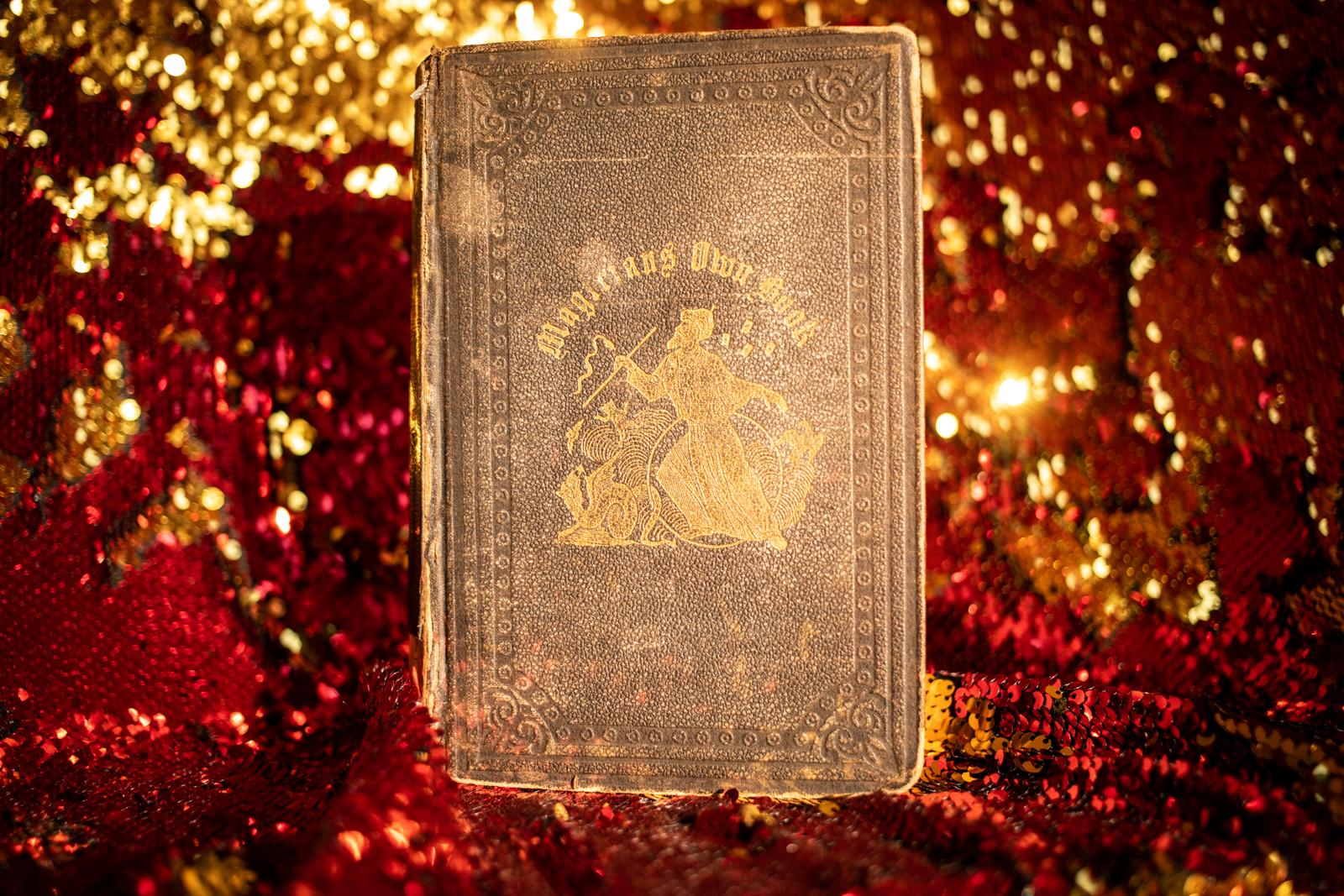 An old magic book that belongs to Elizabeth Messick. A former boyfriend gave it to her as a present.
