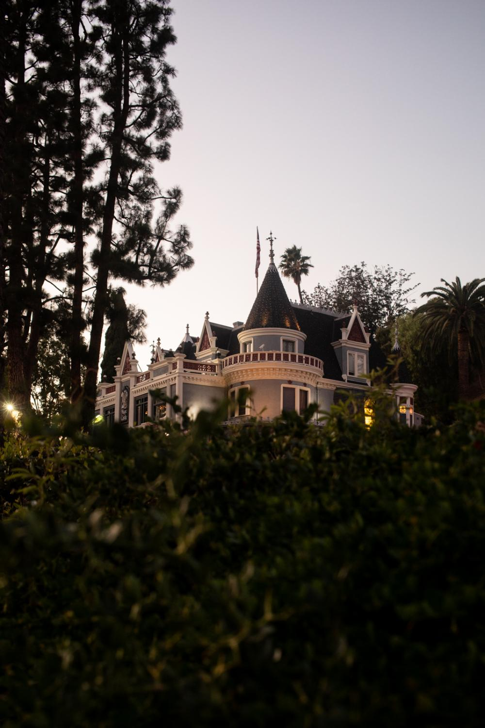 A view of the Magic Castle in Hollywood.