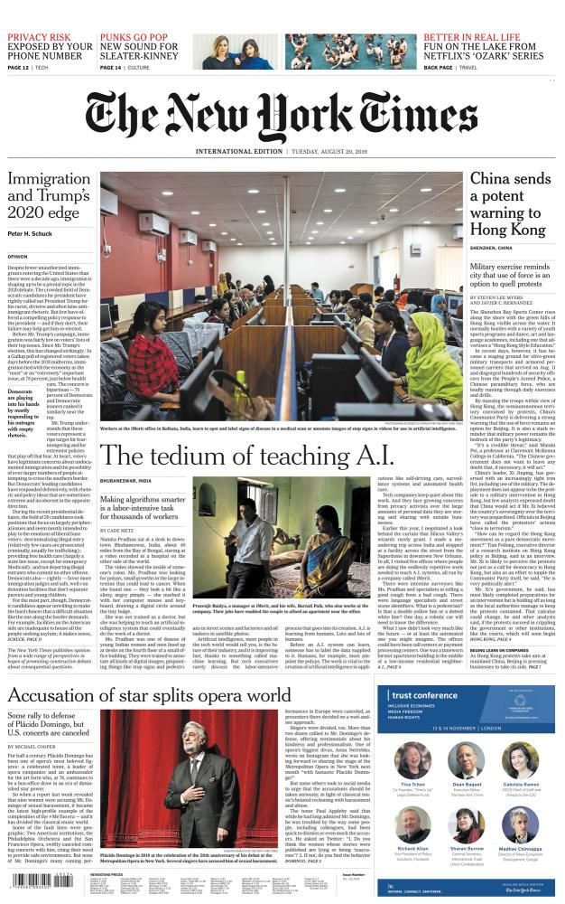 The New York Times A.I Is Learning From Humans. Many Humans