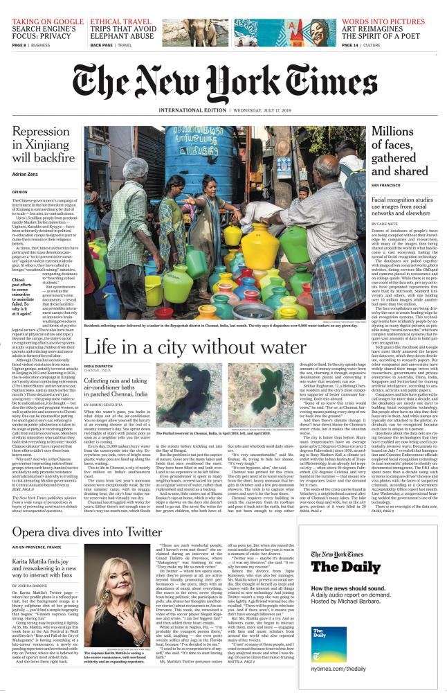 The New York Times Life in a City Without Water: Anxious, Exhausting and Sweaty