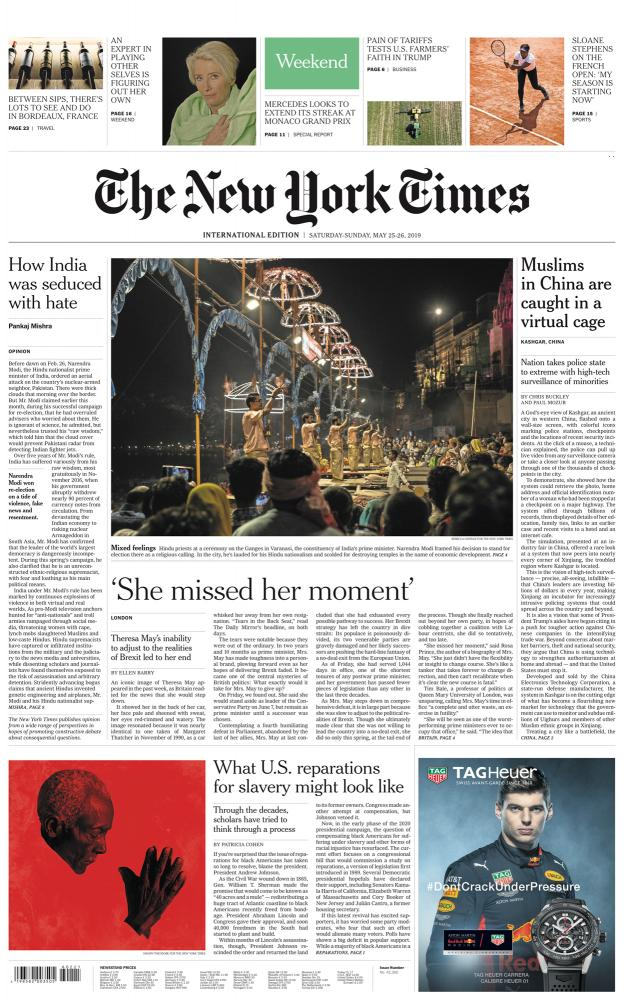 The New York Times In India's City of Temples, Narendra Modi is Both Hero and Villain