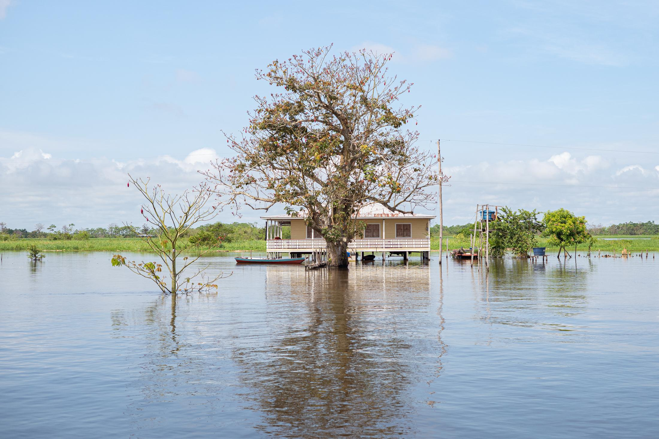 """The first flood happened in 2009. And since then, every year the city is covered with water. Anamã is now known as the """"Venice of the Amazon""""."""
