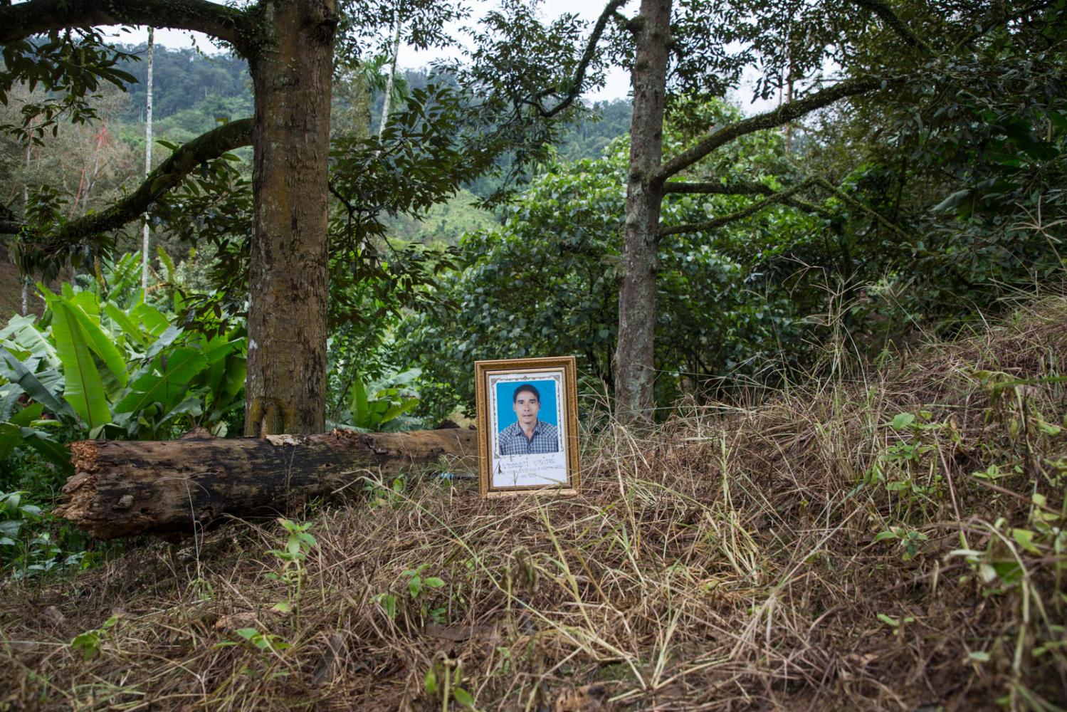Phayao Panroj, a durian farmer and conservationist from Khao Tako forest, Thung Tako District, Chumphon Province, was shot dead by two assailants while watering his durian trees with his wife on 8 May 2016. He was believed to be shot because he exposed activities by outsiders that the villagers said would damage the water source of the valley if it continued. He collected evidence and took it to the press and government officials which infuriated those involved.