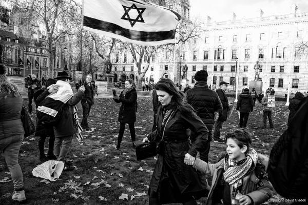 Demonstration against antisemitism, London, 08/12/2019