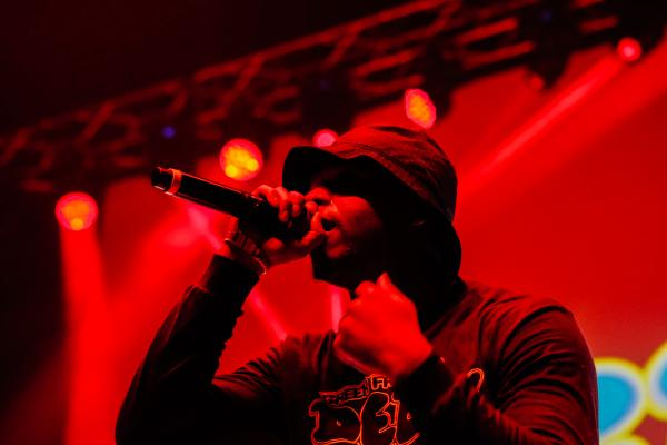 Delly, an up and coming Harlem rapper, performs at Greek Freak 2019 at Syracuse University.