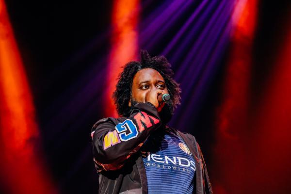 Bas performs at Greek Freak 2019 at Syracuse University.