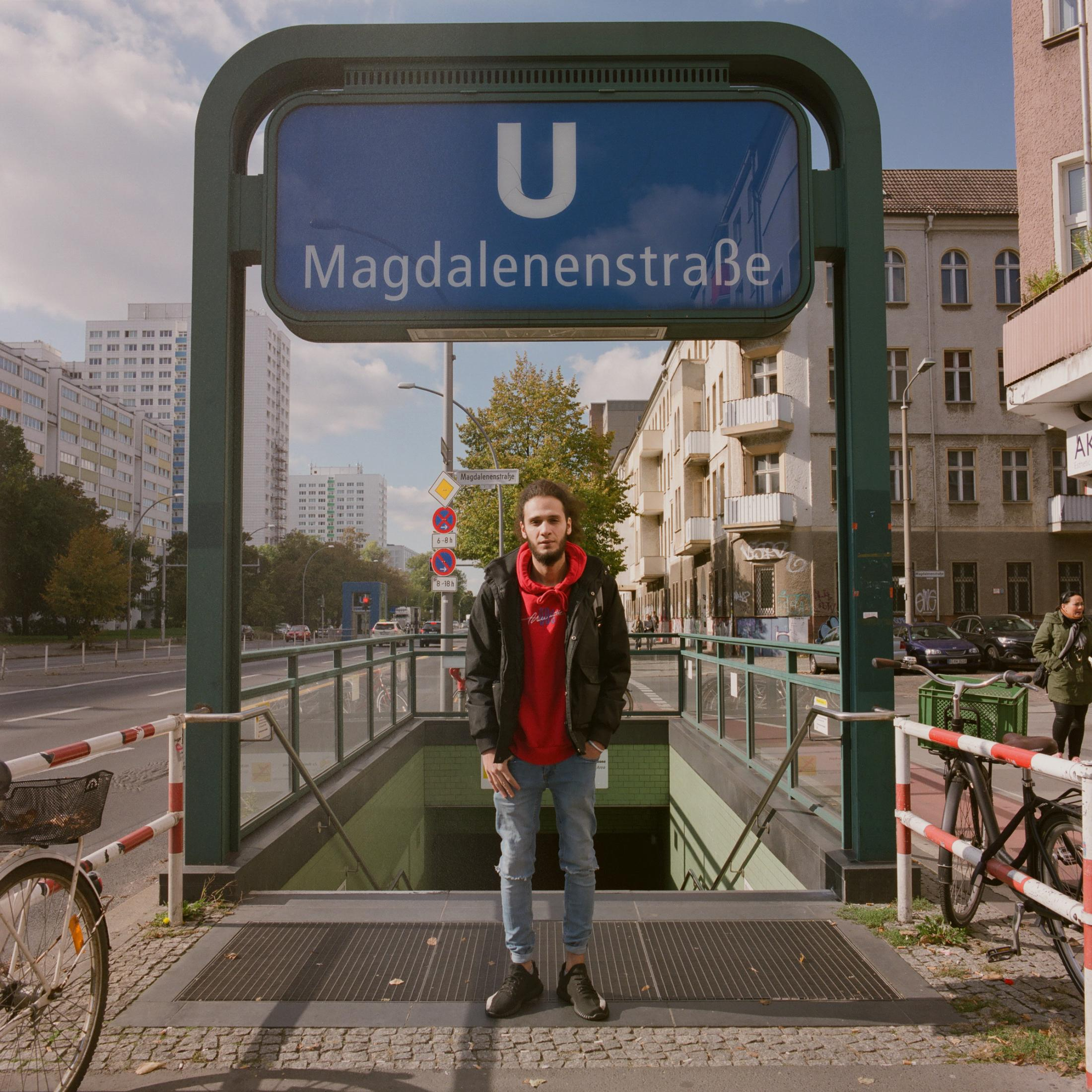 Art and Documentary Photography - Loading Alaa_at_the_entrance_of_the_U-Bahn_Magdalenenstra__e__Berlin__2.jpg