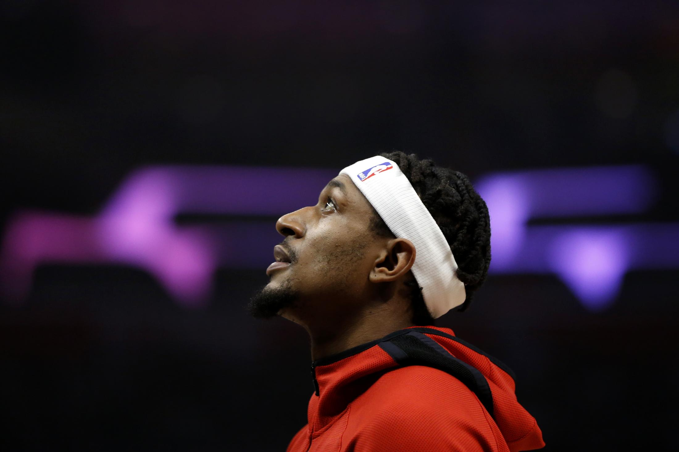 LOS ANGELES, CALIFORNIA - DECEMBER 01: Bradley Beal #3 of the Washington Wizards looks on ahead of a game against the Los Angeles Clippers at Staples Center on December 01, 2019 in Los Angeles, California. NOTE TO USER: User expressly acknowledges and agrees that, by downloading and or using this photograph, User is consenting to the terms and conditions of the Getty Images License Agreement. (Photo by Katharine Lotze/Getty Images)