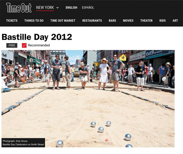Bastille Day, Brooklyn, Time Out.