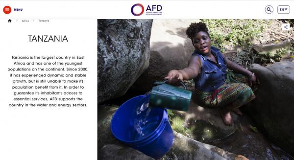 Improving Water and Sanitation Services in Tanzania, Agence Française de Développement (AFD).