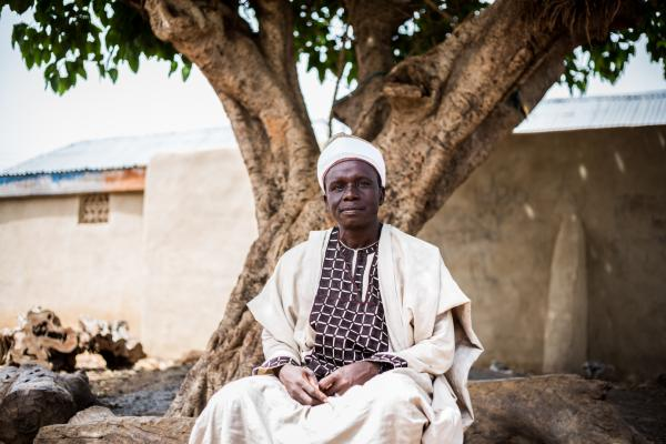 Mallam Ahmed Aliyu is the Sarki (Chief) of Wuciciri community. As part of his commitment to improving the access that girls in his community have to education, Mallam Aliyu offered his house to be used as a safe space for the out of school girls.