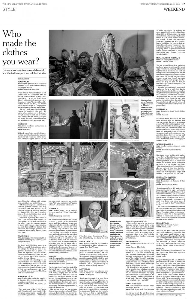 The New York Times Who Made Your Clothes?
