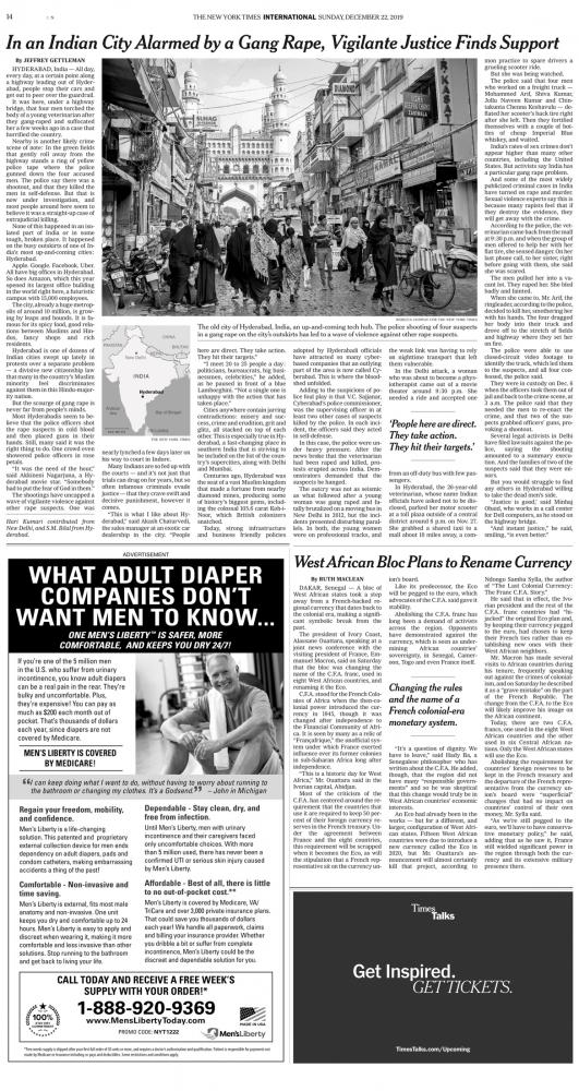 The New York Times In India Tech City Shocked by Gang Rape, Vigilante Justice Gets Praise