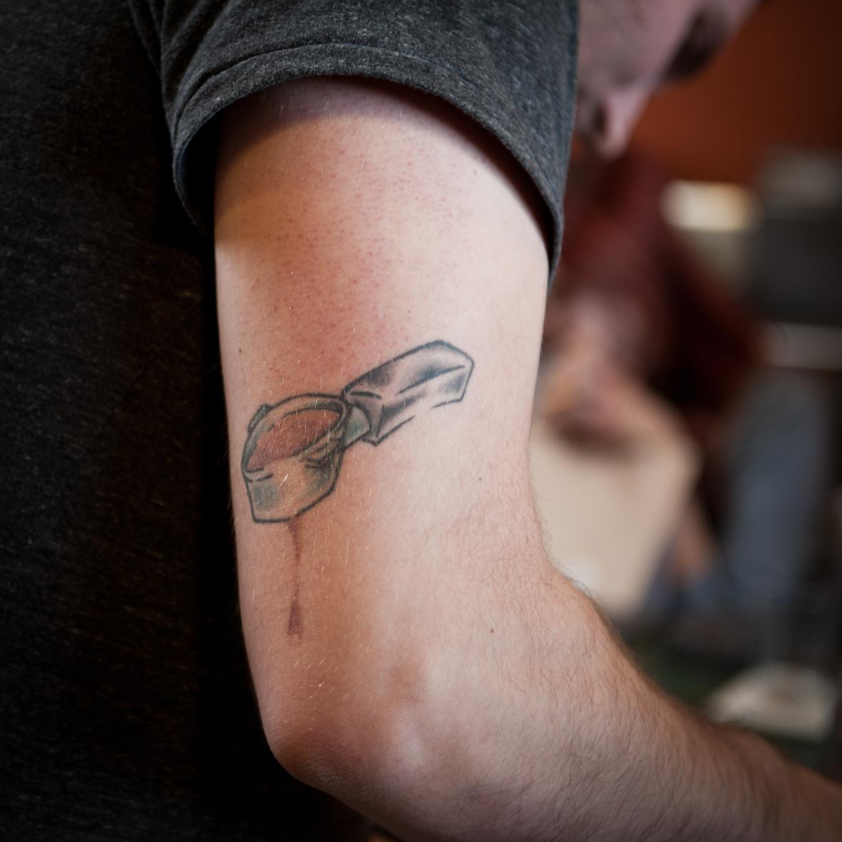 A tatoo about coffee. Baristas' level of dedication and passion is unbelievable. ©ChiaraCeolin2013