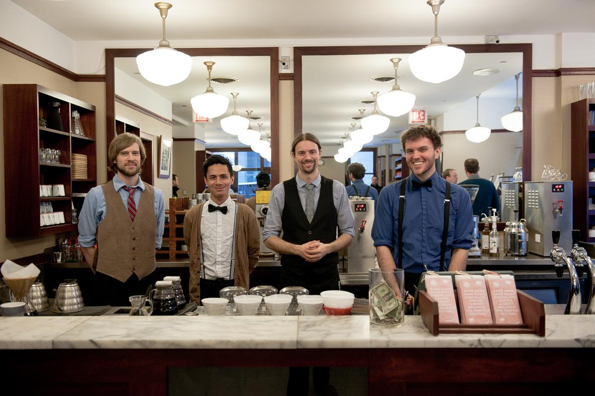 Staff at the Monadnock building cafe in Chicago. ©ChiaraCeolin2013