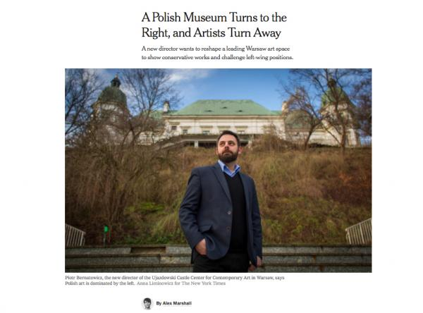 Piotr Bernatowicz, the new director of the Ujazdowski Castle Center for Contemporary Art in Warsaw.  Anna Liminowicz for The New York Times   NYTimes 