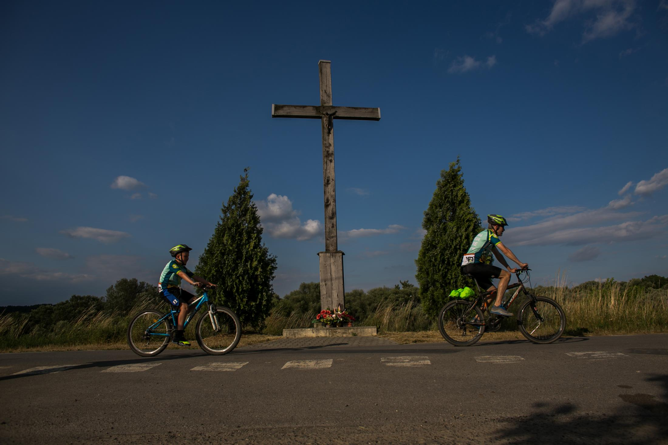Bodzów, Poland 6/28/2019 Ride For The Living. Some of the 250 participants in Ride for the Living, a 100-kilometer ride from Auschwitz to Krakow, Poland, June 28, 2019.