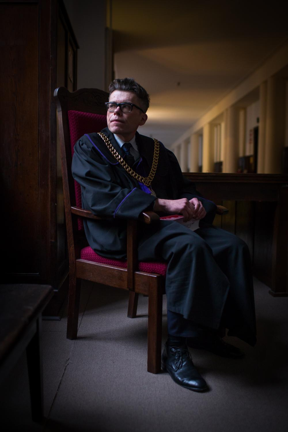 Judge Igor Tuleya. Portrait for The New York Times