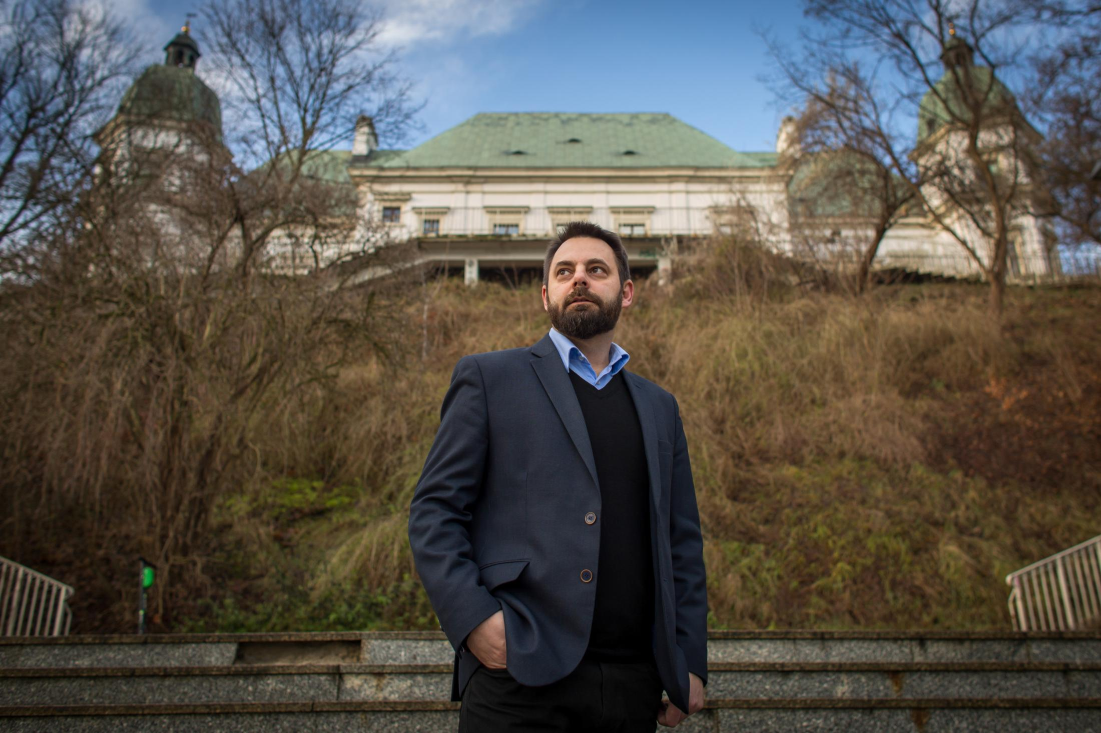 Piotr Bernatowicz, the new director of the Ujazdowski Castle Center for Contemporary Art in Warsaw. Bernatowicz wants to reshape a leading Warsaw art space to show conservative works and challenge left-wing positions. Portrait for The New York Times