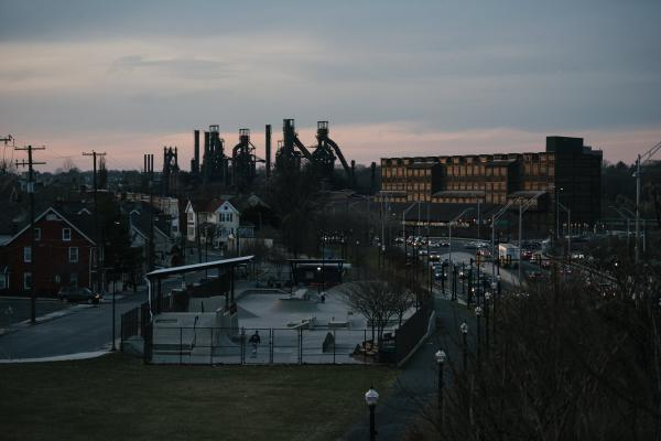 Blast furnaces can seen in Bethlehem, PA on Thursday, December 12, 2019. These structures were originally part of Bethlehem Steel, the second largest steel manufacturer in the nation, but are now part of SteelStacks, an art hub in Bethlehem. Hannah Yoon