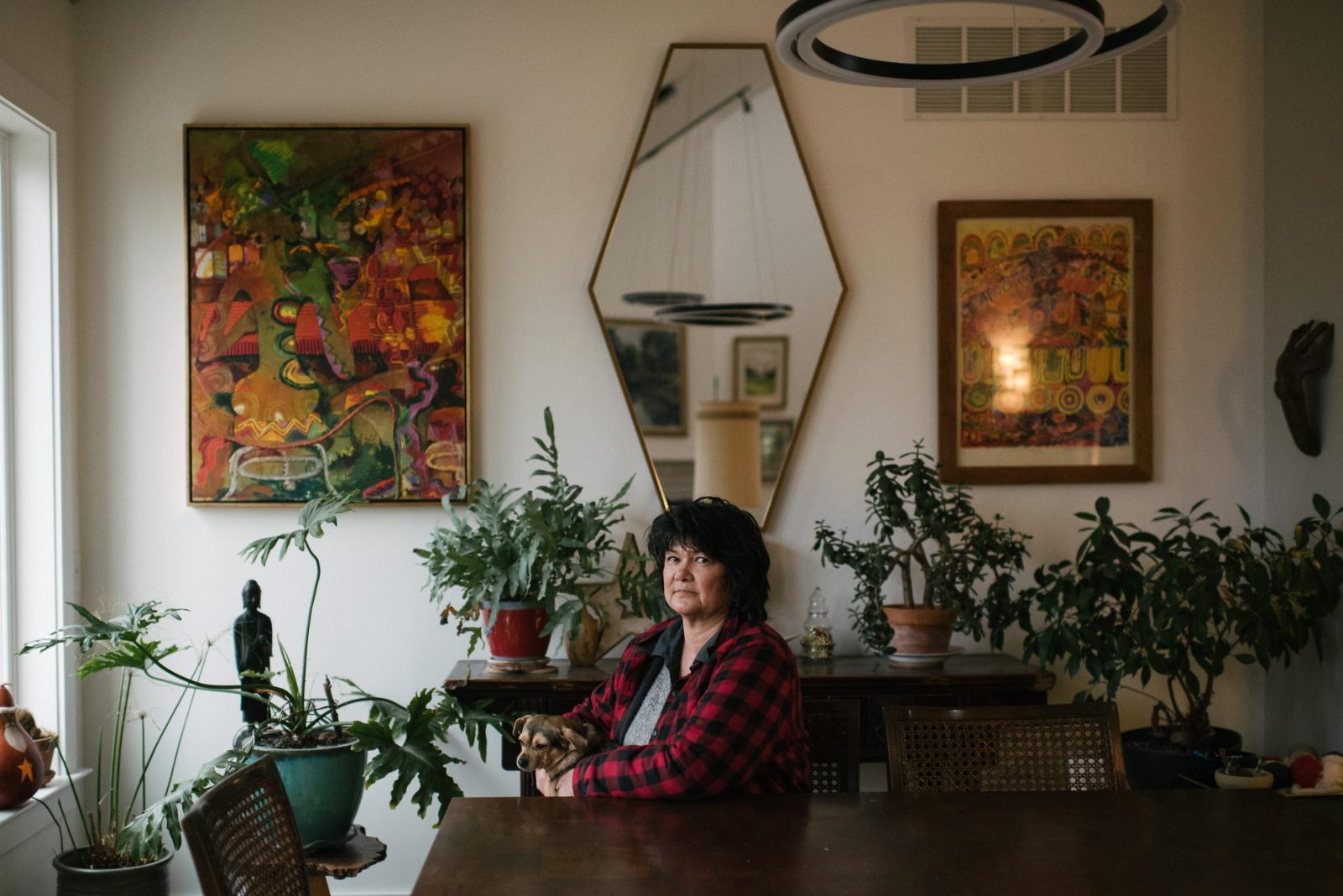 Teri Hines, 57, sits for a portrait at her home in Smyrna, Delaware on Monday, December 30, 2019. Hines shared about her struggle with depression as she was going through perimenopause in 2008/2009.