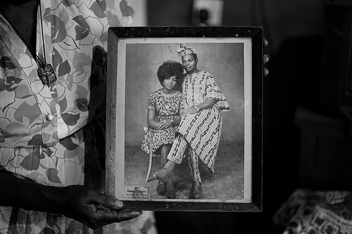 """I was the first wife of my late husband and this is the only picture I have left to remember him. The second wife burnt all the other pictures. She had the support of the villagers because she carried out the traditional mourning rites. My refusal to do it led to my being frustrated out of my late husband's house with nothing."""