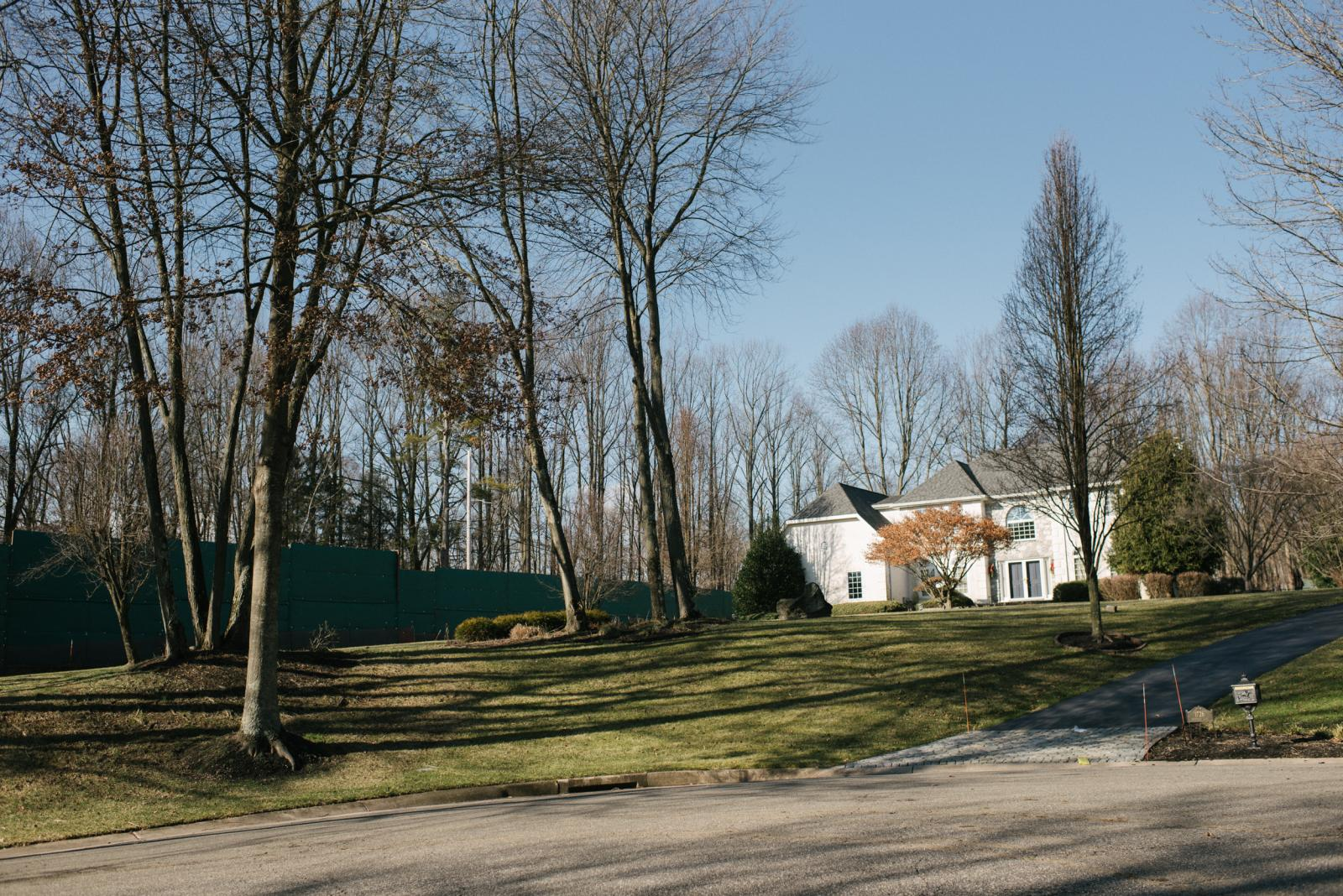 A residential home can be seen next to a Mariner East Pipeline construction barricade in Glen Mills, PA. on Thursday, January 16, 2020. Residents living nearby believe the construction work from the pipeline is causing people to have contaminated water. Photo by Hannah Yoon