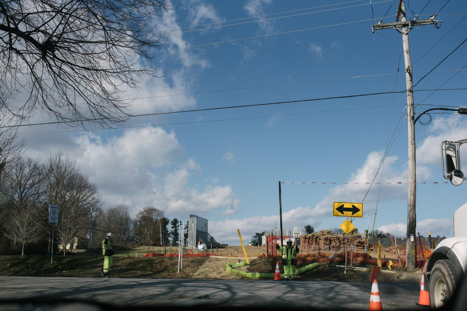 The site of the Mariner East Pipeline construction can be seen at Sleighton Park in Media, PA. on Thursday, January 16, 2020. Those living nearby believe the construction work from the pipeline is causing people to have contaminated water. Photo by Hannah Yoon