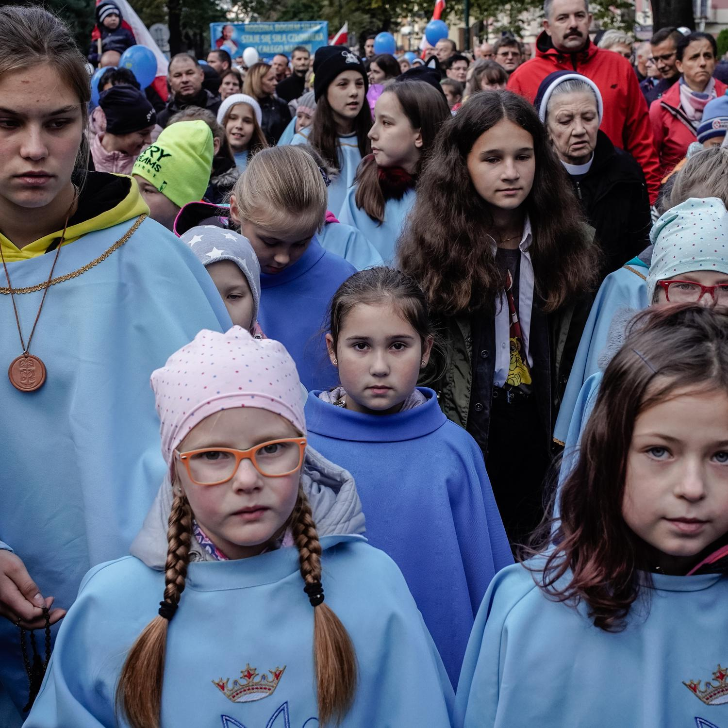 Catholic march For Life and The Family. Nowy Sacz, Poland, October 2019