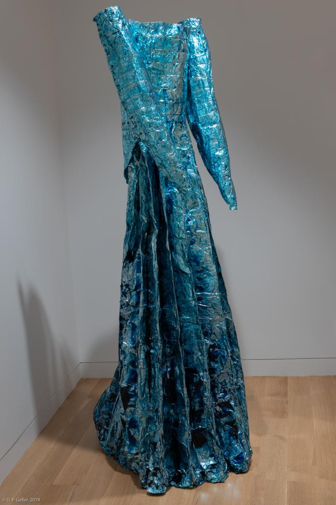Blue Wedding Dress 2017 Aluminum foil, aniline dye, polyurethane 8'Hx4'4'
