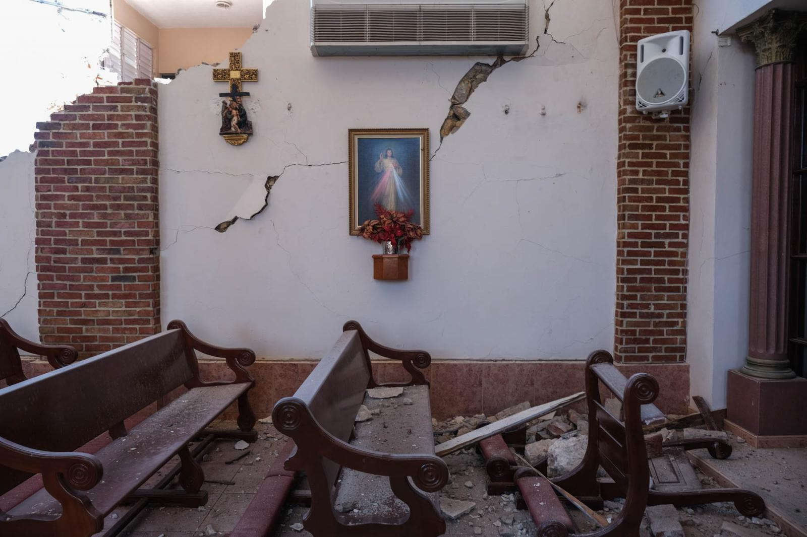 On the morning of January 7th, 2020, two earthquakes of 6.6 and 6.0 were reported in the southwestern region of Puerto Rico. In the town of Guayanilla, the nearest town to the epicenter, buildings including the Iglesia Inmaculada Concepción, were torn down. Gabriella N. Báez for CNN.