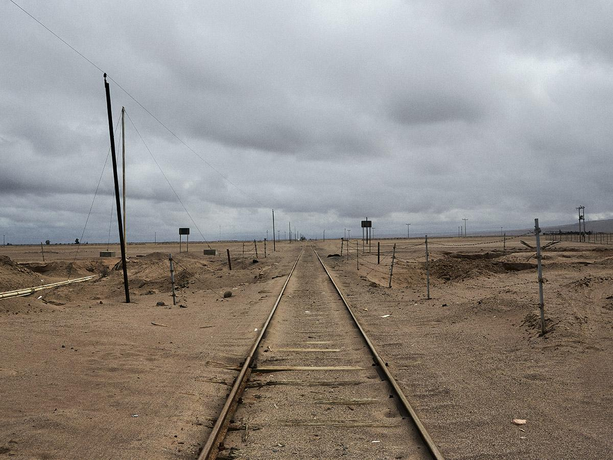 The anti-personnel landmined border between Tacna, Perú and Arica, Chile