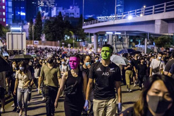 2019年9月19日,沙田區學界亦發起「沙田聯校人鏈」行動,區內多間中學學生將會手牽手築起人鏈,橫跨城門河,表達對五大訴求的堅持。