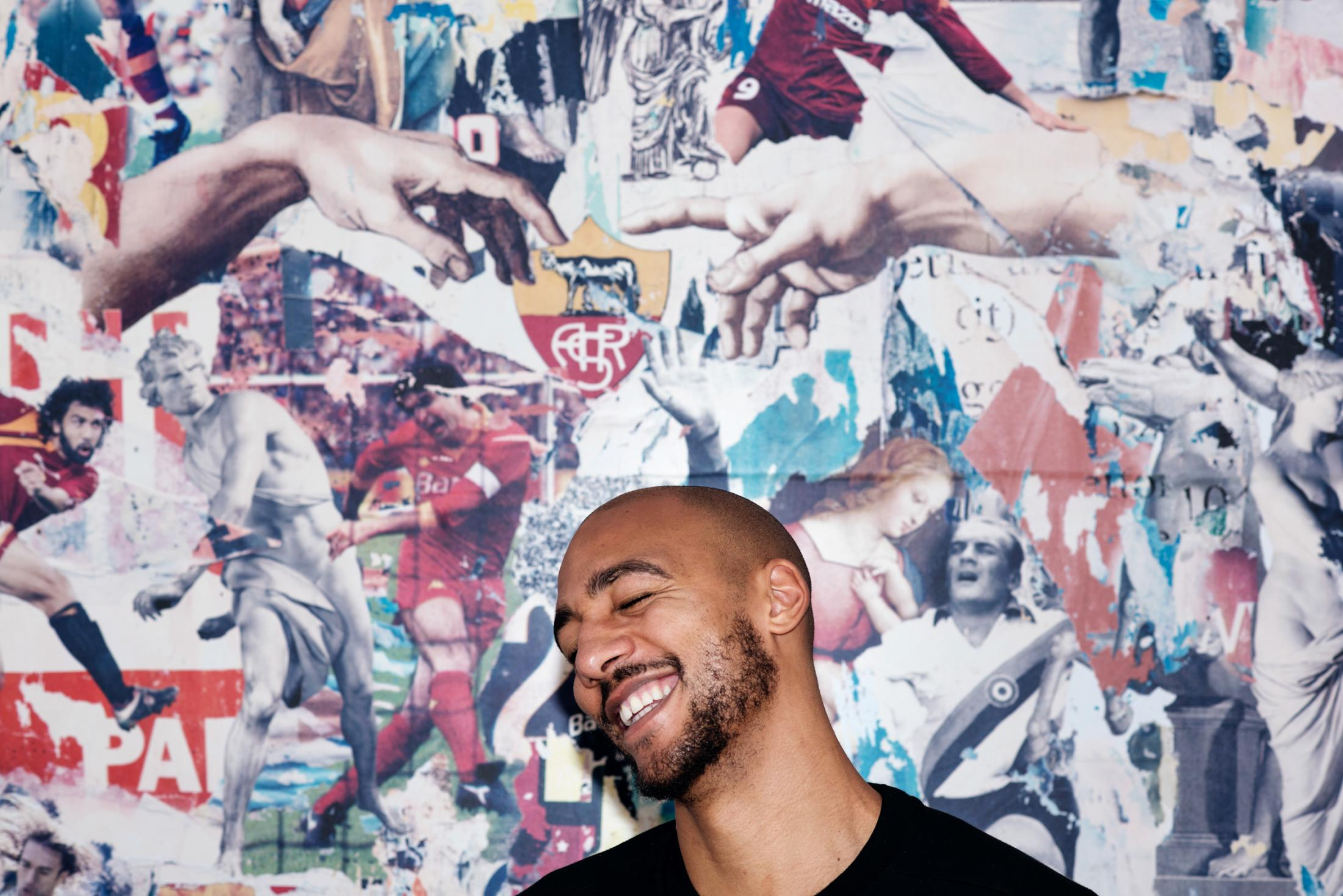 Steven Nzonzi, AS Roma Club. Commissioned by So Foot