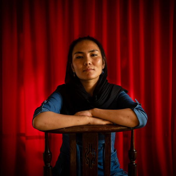 "KABUL | AFGHANISTAN | 8/3/19 | Zarifa Adiba (21) - Student, former conductor of Zohra Orchestra ""The biggest loss for me will be my identity, I will loose that as a woman and nobody will recognize me as human being anymore"""