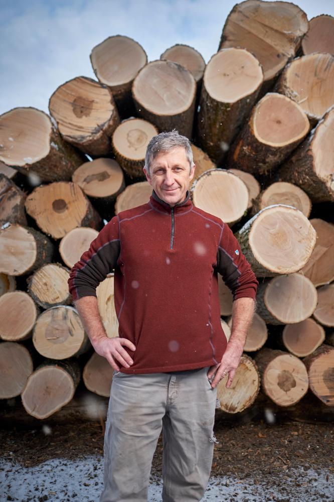 Middlebury, Vermont (December 12, 2018) - John Anderson of Canopy Timber Alternatives. (Photo © 2018 Brett Simison)