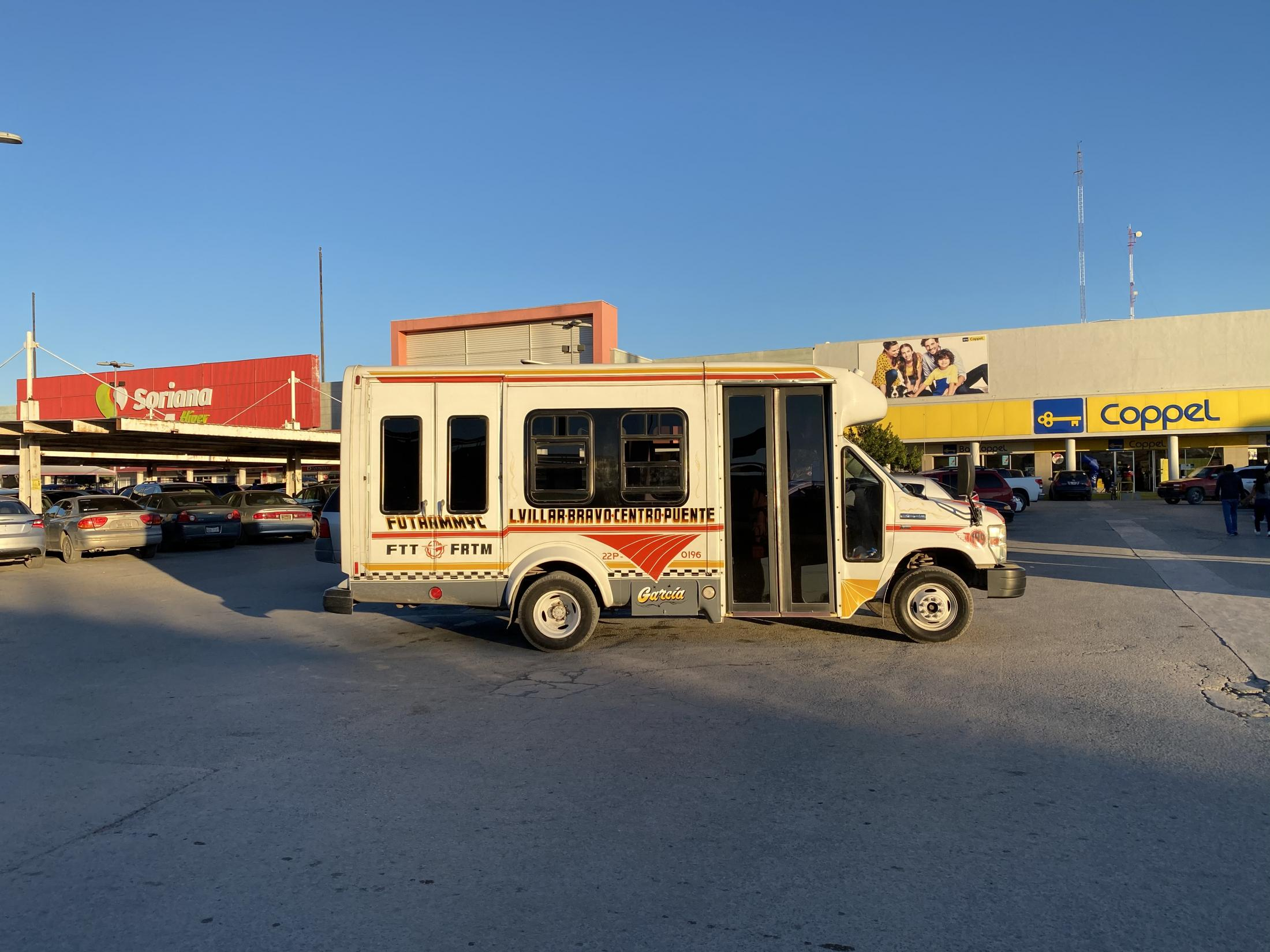 Matamoros, Tamaulipas, México. 2020. A typical public bus from Mexico. My mother and I had gone to eat outside after being unable to leave a hospital for several days in order to takecare of my sick grandmother.