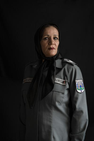KABUL | AFGHANISTAN | 8/9/17 | Nora Sediqi (45) - has been with police force for 32 years, doing when she went to police high school academy - 6 kids - during Taliban was the head of female ward of Kabul prison