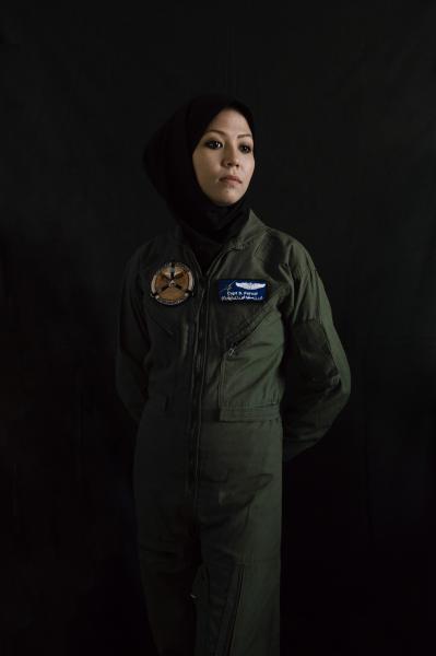 KABUL | AFGHANISTAN | 8/15/17 | Captain Safia Ferozi (27) pilot