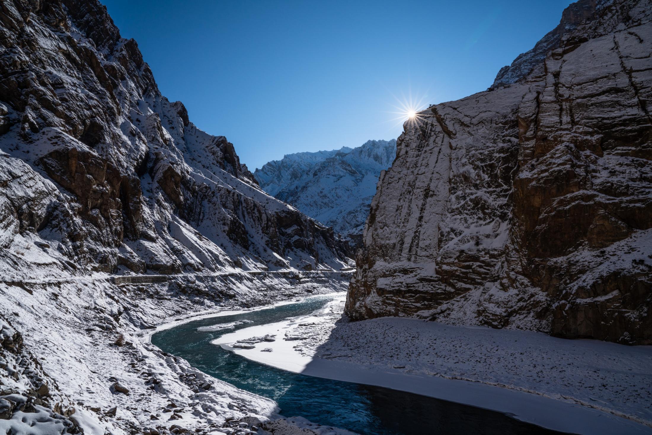 The beginnings of the long-awaited Winter road from Zanskar to Leh.