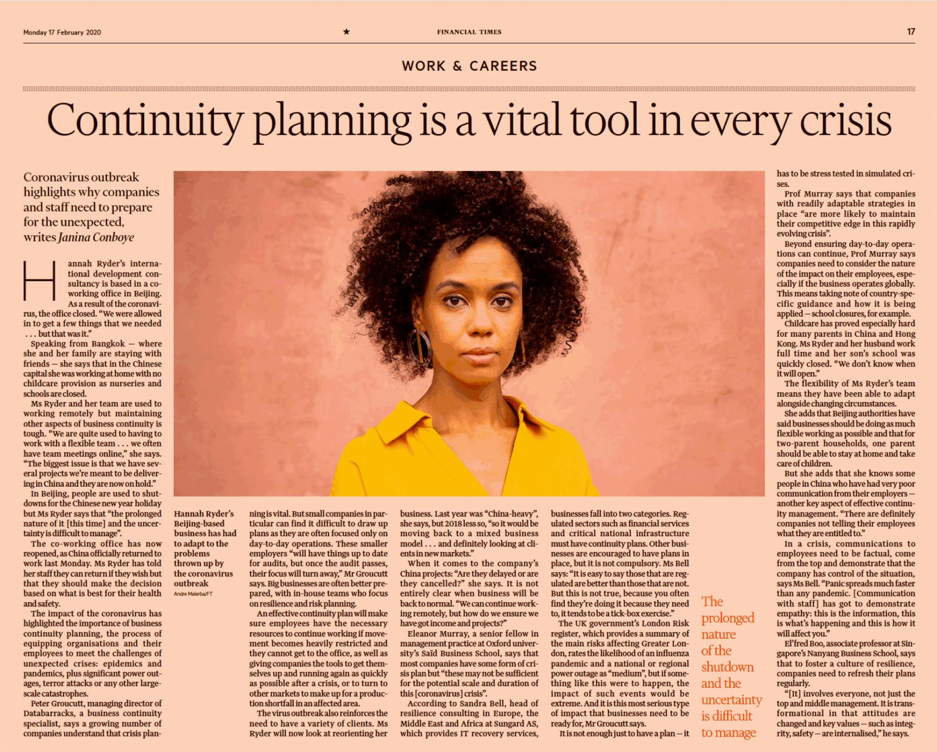 Financial Times, February 2020.